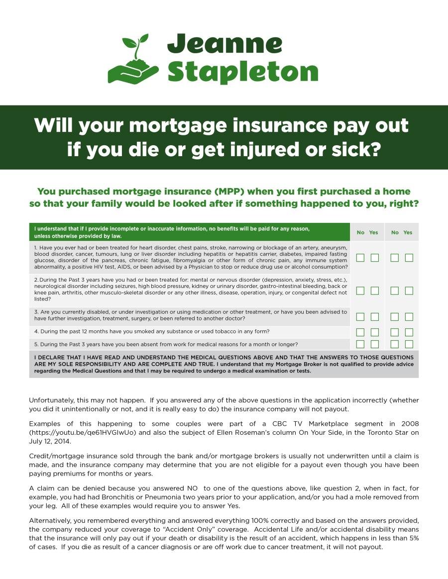 Mortgage Insurance – A Better Option – Jeanne Stapleton